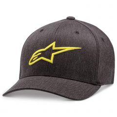 Alpinestars Men's Ageless Curve Flexfit Hat Charcoal Htr/Hivis Yellow
