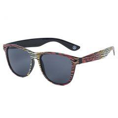 Neff Men's Daily Shades Sunglasses Tiger Stripe Black