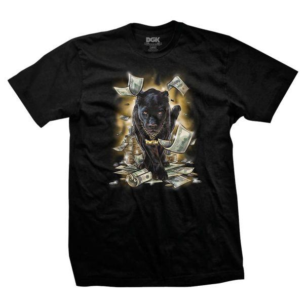 DGK Men/'s Prowl Short Sleeve T Shirt Black Clothing Apparel Black Panther
