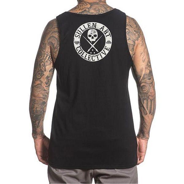 Sullen Mens Badge of Honor Tank Top Shirt Black