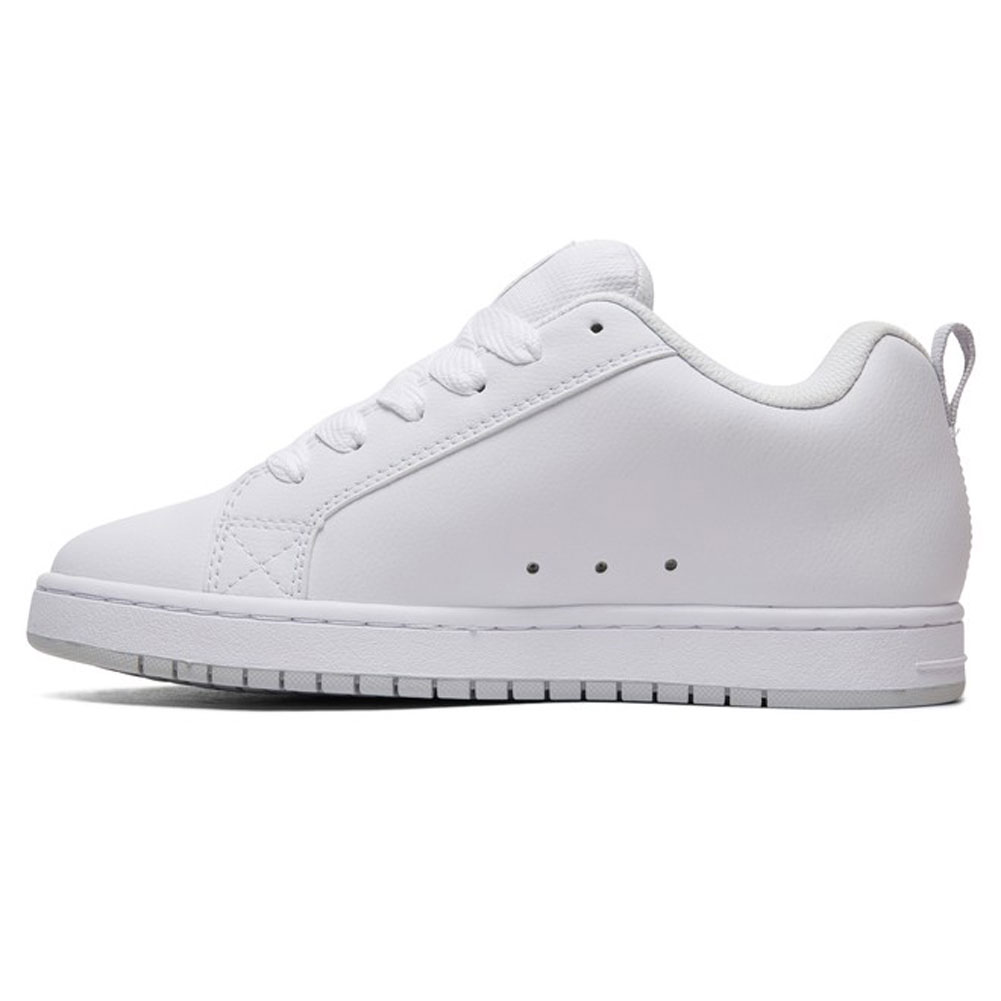 DC Shoes Men/'s Court Graffik Low Top Sneaker Shoes White Grey Skateboard Casual